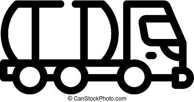 liquid transportation truck line icon vector illustration