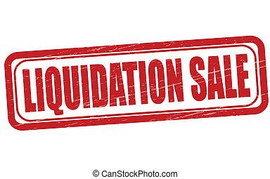 liquidation, verkauf