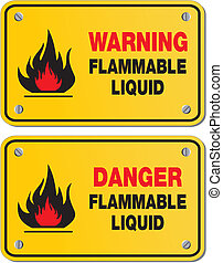 liquide inflammable, danger