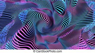 liquide, pourpre, rose, chanel, résumé, boucle, animation, 4k, ultra-violet, colors., alpha, fond, fluorescent, bleu, néon, color.