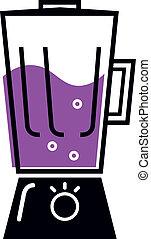 liquidificador, branca, cozinha, isolado, retro