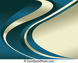 Liquidity - Shiny swirls are featured in an abstract vector...