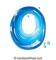 liquido, -, o, acqua, lettera, capitale