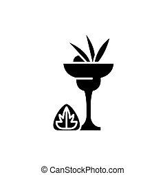 Liquor black icon, vector sign on isolated background. Liquor concept symbol, illustration