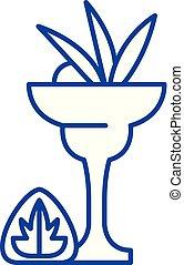 Liquor line icon concept. Liquor flat vector symbol, sign, outline illustration.