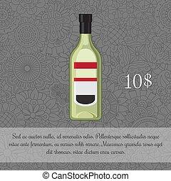 liquore, bevanda, verde, scheda, alcolico