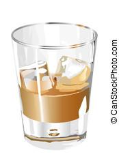 Liquor.jpg - Liquor in a glass beaker, isolated on white...