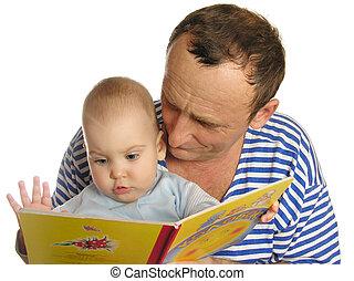 lire, livre, grand-père