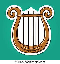lire, musical, instrument.