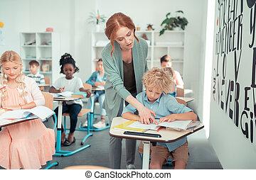 lire, portion, prof, task., écolier