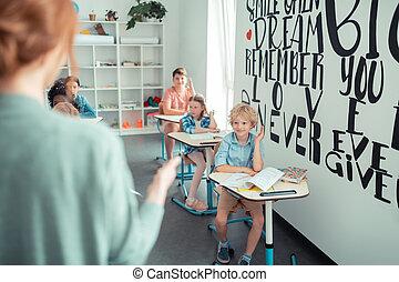 lire, prof, élèves, task., appeler