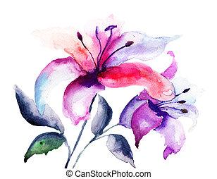 lis, fleurs