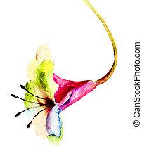 lis, original, fleur