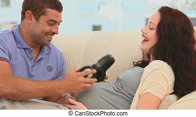 lis, sien, parents, location, bébé, avenir