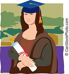 lisa, mona, diplômé