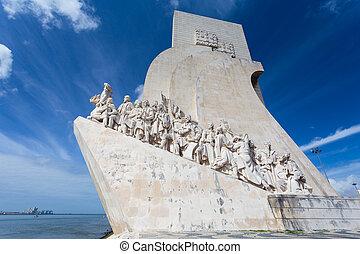 lisboa, discoveries, portugal, monumento