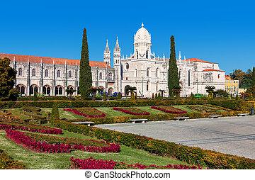 lisboa, monasterio, portugal., jeronimos