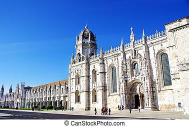 lisboa, monasterio, viejo, portugal, jeronimos