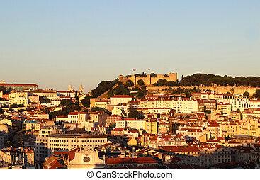 lisboa, ocaso, portugal