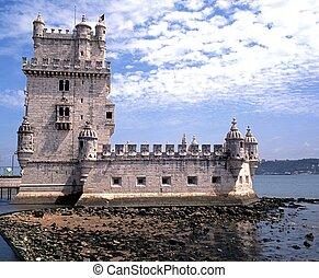 lisboa, torre, belem, portugal.
