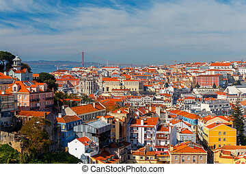 Lisbon. Aerial view of the city.