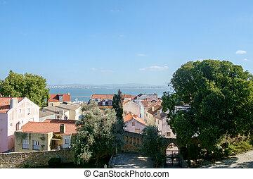Lisbon Castle View towards the Water