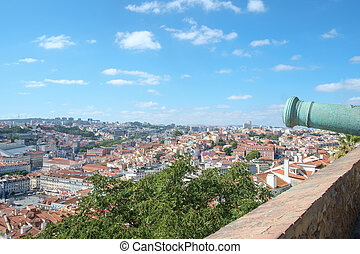 Lisbon Castle View with Canon