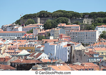 Lisbon downton old city in Portugal