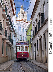 Lisbon. - Image of street of Lisbon, Portugal with...