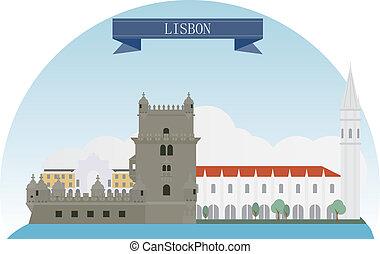 Lisbon  - Lisbon, Portugal. Vector for you design