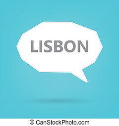 Lisbon on a speech bubblen - Lisbon on a speech bubble-...
