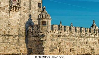 Lisbon, Portugal. Belem Tower ,Torre de Belem, is a ...