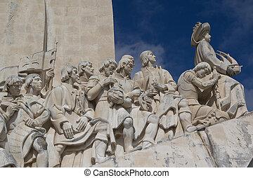 Lisbon, Portugal - Monumento a los Descubrimientos in...