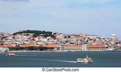 Lisbon, Portugal - Panorama of the Portuguese capital Lisbon...