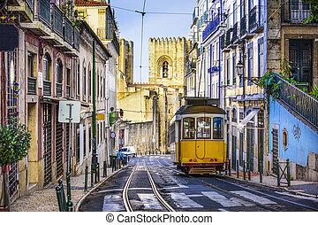 Lisbon Street Car - Lisbon, Portugal tram.