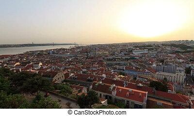 Lisbon sunset timelapse