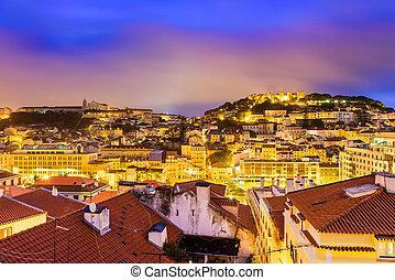lisbonne, cityscape, portugal