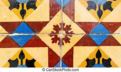 lisbonne, portugais, azulejos, portugal, tuiles