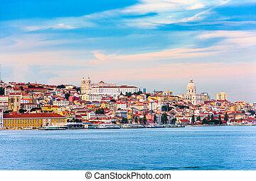 lisbonne, rivière, portugal