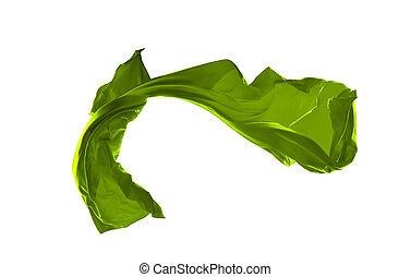 liscio, isolato, elegante, sfondo verde, raso bianco