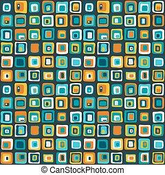 liscio, quadrato, vettore, seamless, modello, rete, style., per, backgrownd, tessile