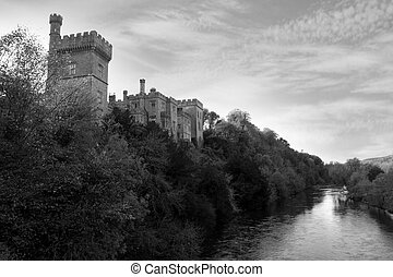 Lismore castle over the blackwater - Lismore castle over...