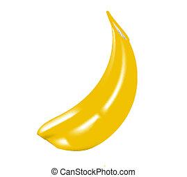 Liso,  banana, pele