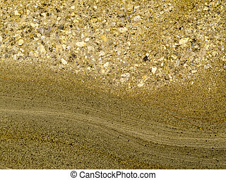 liso, superfície, de, layered, arenito, sedimento, rocha