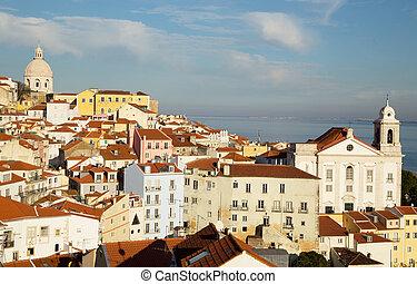 lissabon, alfama, portugal., ansicht