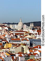 lissabon, aus, portugal, ansicht