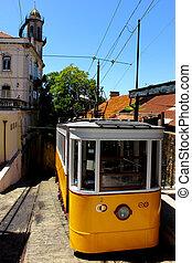 lissabon, kleinbahn, portugal
