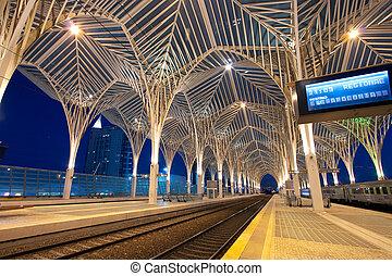 lissabon, station, oosten, portugal