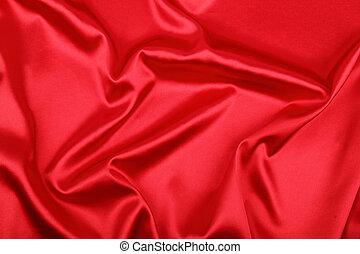 lisser, élégant, soie rouge, boîte, usage, comme, fond