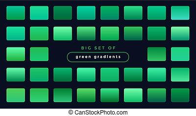 lisser, gradients, ensemble, vert